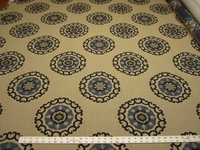 2 5/8 yards of Roman Circle medallion upholstery fabric r1774