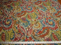 2 7/8 yards of colorful paisley upholstery fabric