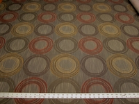 2 7/8 yards of geometric circles crypton upholstery fabric