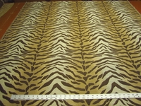 2 7/8 yards tiger stripe upholstery fabric