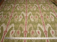 2 yards ikat jacquard upholstery fabric