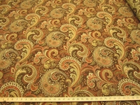 2 yards of High Quality Paisley Chenille Mix Upholstery Fabric