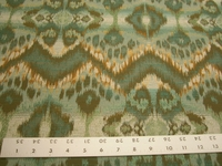 2 yards of ikat design upholstery fabric