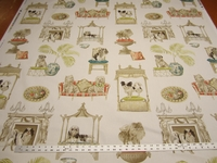 2 yards of P Kaufmann Best In Show Color Bone Printed Cotton Fabric