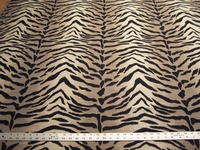 2 yards tiger stripe upholstery fabric