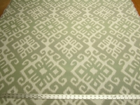 3 1/2 yards Baha Seafoam geometric upholstery fabric