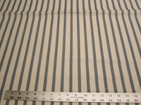 3 1/2 yards of blue stripe upholstery, drapery fabric