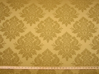 3 1/2 yards of medium gold damask upholstery fabric