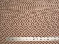 3 1/2 yards of red rust geometric upholstery fabric