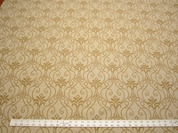3 1/4 yards of gold scroll design upholstery fabric