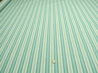 "3 1/4 yards of Marlatex ""Boden"" stripe upholstery fabric color seafoam"