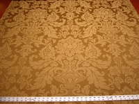 3 1/8 yards of gold damask upholstery fabric