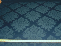 3 1/8 yards of saphire blue damask upholstery fabric