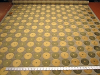 3 3/4 yards of Colleen velvet circles upholstery fabric color olive
