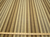 3 3/4 yards Rocco, colorway brown, textured stripe upholstery fabric