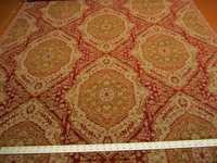 3 3/8 yards Luciano Ruby southwest patterned chenille upholstery fabric