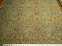 3 3/8 yards of emerald paisley upholstery fabric