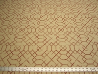 3 3/8 yards of rust geometric upholstery fabric