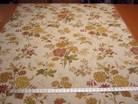 3 7/8 yards of double woven floral tapestry upholstery fabric