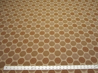 3 7/8 yards of Duralee geometric circles upholstery fabric