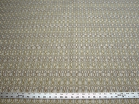 3 7/8 yards of geometric scroll design upholstery fabric