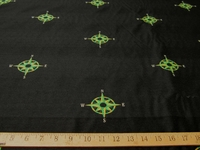 3 7/8 yards of Poseidon nautical compass pattern upholstery fabric