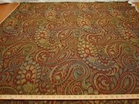 3 7/8 yards Robert Allen Tamil Paisley upholstery fabric color Henna