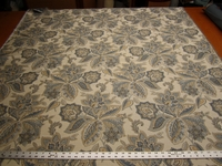3 yards of floral tapestry upholstery fabric