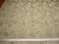 3 yards of formal paisley pattern damask upholstery fabric