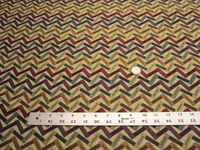 3 yards of geometric zigzag design upholstery fabric
