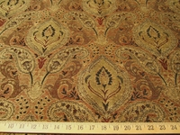 3 yards of Madison tobacco paisley chenille upholstery fabric