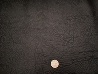 3 yards Oxen grain black vinyl upholstery fabric