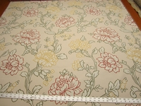 3 yards Simone Floral Multi Color Matelasse upholstery fabric