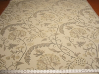 3 yards Talia neutral floral tapestry upholstery fabric
