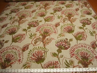 4 1/2 yards Daphne floral upholstery fabric color sorbet