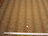 4 1/2 yards leopard spots jacquard upholstery fabric