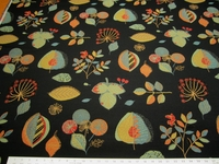 4 1/4 yards colorful leaf pattern tapestry upholstery fabric
