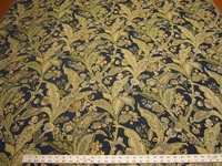 4 1/4 yards Duralee floral chenille upholstery fabric