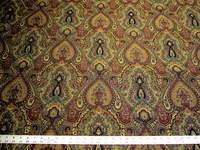 4 1/4 yards of Robert Allen Full Paisley upholstery fabric
