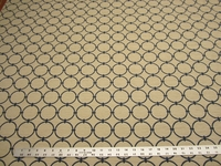 4 1/8 yards of geometric circle upholstery fabric r1796