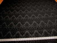 4 3/4 yards of black chenille damask upholstery fabric