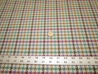 4 3/4 yards of houndstooth check upholstery fabric
