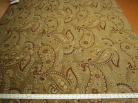 4 3/4 yards of nice paisley chenille upholstery fabric
