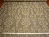 4 3/8 yards Bayla ikat color cocoa upholstery fabric