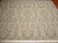 4 3/8 yards Bayla ikat color mineral upholstery fabric