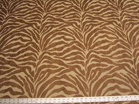 4 5/8 yards Caris Brown Tiger Stripe Chenille mix Upholstery Fabric