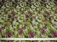 4 5/8 yards floral purple flower upholstery fabric