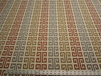 4 5/8 yards Tarlo geometric upholstery fabric color copper