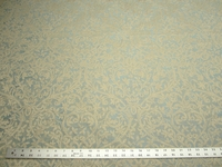 4 yards of blue formal scroll pattern damask upholstery fabric