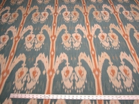 4 yards of ikat patterned upholstery fabric